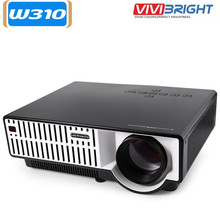 VIVIBRIGHT NUEVO ROJO AZUL 3D LED Proyector 2800 lúmenes Full HD 1080 P de Cine En Casa Projektor Proyectores 2 HDMI 2USB Beamer proyector