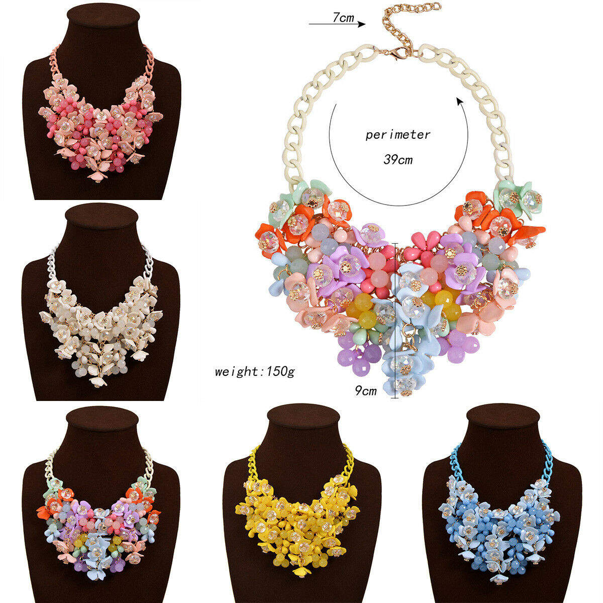 Multicolor Vintage Statement Necklaces Pendants Crystal Maxi Necklace for Women Female Collar Collier Femme Fashion Jewelry in Pendant Necklaces from Jewelry Accessories