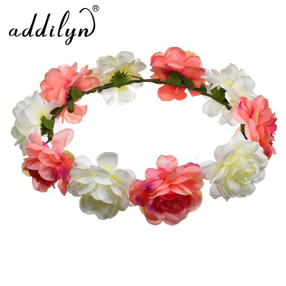 Artificial Flower Hair Accessory For Head Floral headband Decorative Hair Wreath Flower crown for women