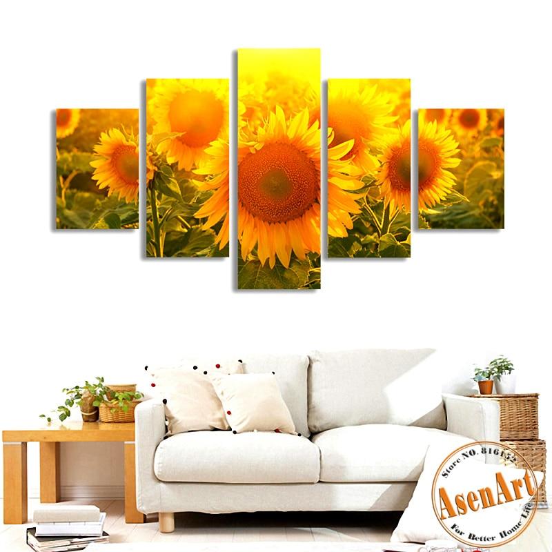 Online get cheap large sunflower paintings for Sunflower bedroom decor