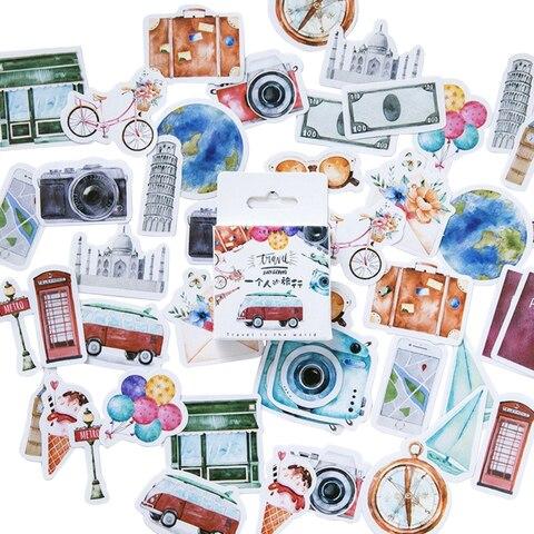 20 pacotes lote viagem engracada decoracao adesivos adesivos adesivos diy diario dos desenhos animados scrapbook