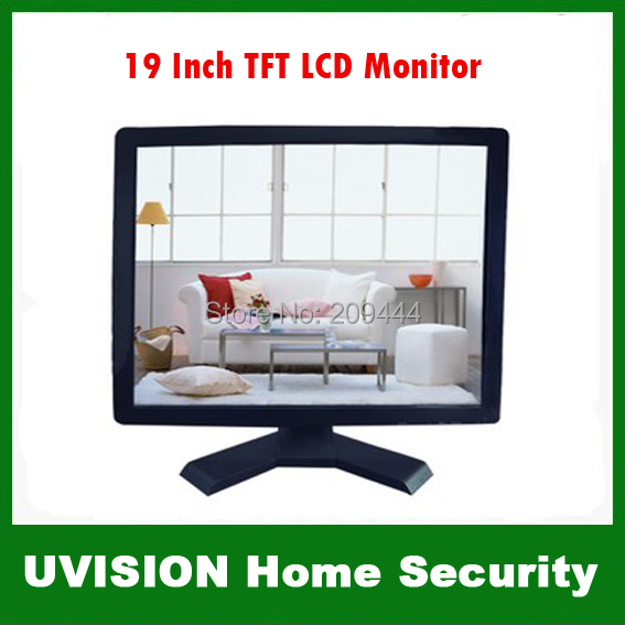 Видеонаблюдения 19 Inch TFT ЖК Пластиковый Корпус Монитор HDMI/VGA/BNC/AV Порт для Камеры бесплатно доставка