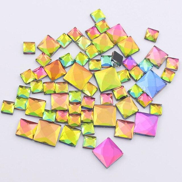 New 130pcs 6mm 8mm 10mm Mix Size Rhinestones Rainbow Color Hotfix Rhinestones  Crystals Strass Glue On Rhinestones For Clothes 9f03ec2aebbb