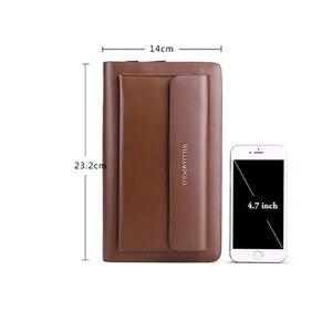 Image 3 - WILLIAMPOLO Marke Mode Hohe Qualität Mens Kupplung Brieftasche Luxus Brieftasche Männer Organizer Brieftasche PL162