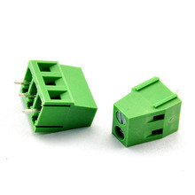 цена на 20 pcs 2 Pin Screw green PCB Terminal Block Connector 2.54mm 3.5mm 3.81mm 5.00mm 5.08mm 7.5mm 7.62mm Pitch KF128-2P