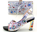 Italian Designer Shoes And Bag Set With Stones Ladies Shoes And Match Bag Set For Party High Quality Wedding Pumps Shoes TH16-43
