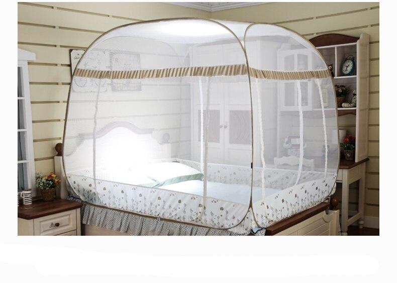 Bed Gordijn 5 : Gratis installatie klamboe bed netto moustiquaire vierkante top bed