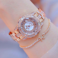 34mm BS Hot Selling Watch High Grade Watch Crystal Diamond Watches Lady's Dress Watch Girl Bracelet Watches Montre Femme