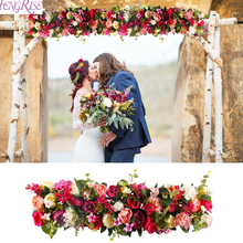 1M Artificial Rose Flower Row Wedding Decoration Road Cited Garland Wisteria Supply