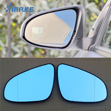 smRKE 2Pcs For Toyota Vios Porte Rearview Mirror Blue Glasses Wide Angle Led Turn Signals light Power Heating