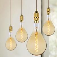 TIANFAN Big Edison Bulbs Vintage Light Bulb PS52/A160 Led Bulb Spiral Filament 4W 220/240V E27 Decorative Light Bulb