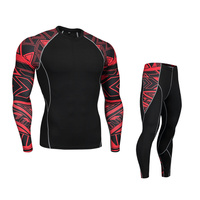 Motorcycle Men Thermal Underwears Suits Set Motor Skiing Winter Warm Base Layers Tight Long Tops & Pants Motocross Protection