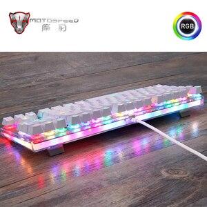 Image 5 - Оригинальная игровая клавиатура Motospeed K87S, механическая проводная клавиатура с USB, 87 клавиш, rgb подсветка, переключатель красный/синий, для ПК, для компьютерных игр