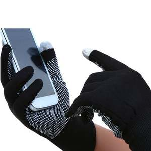 Pair Gloves Acrylic Silicone Digital Touch Screen Mobile Winter GTFS