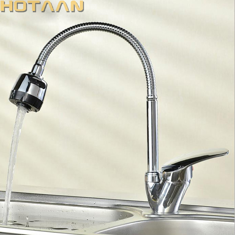Kitchen Mixer Free Shipping Solid Brass Cold and Hot Kitchen Tap Single Hole Water Tap Kitchen Faucet torneira cozinha YT-6002 free shipping solid brass pull out kitchen sink mixer cold and hot kitchen tap single hole water tap kitchen faucet