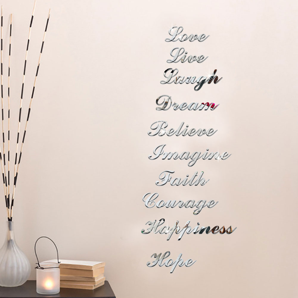 Mirror letters for wall images home wall decoration ideas aliexpress buy 37pcsset creative letters alphabet wall aliexpress buy 37pcsset creative letters alphabet wall stickers mirror amipublicfo Images