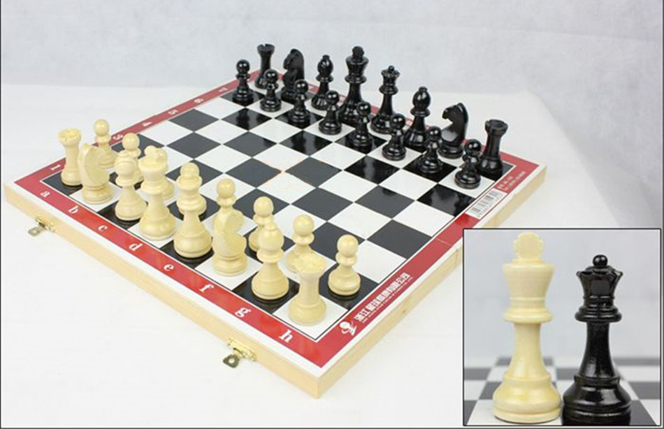 Motivated Wooden Chess Medieval Chess With Chessboard International Chess Game Family Party Travel Game Chess Set Kids Toys Board Game Superior Materials