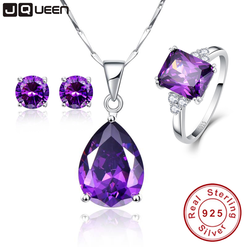 3PCS/Set Promotion Price High Grade Amethyst Engagement