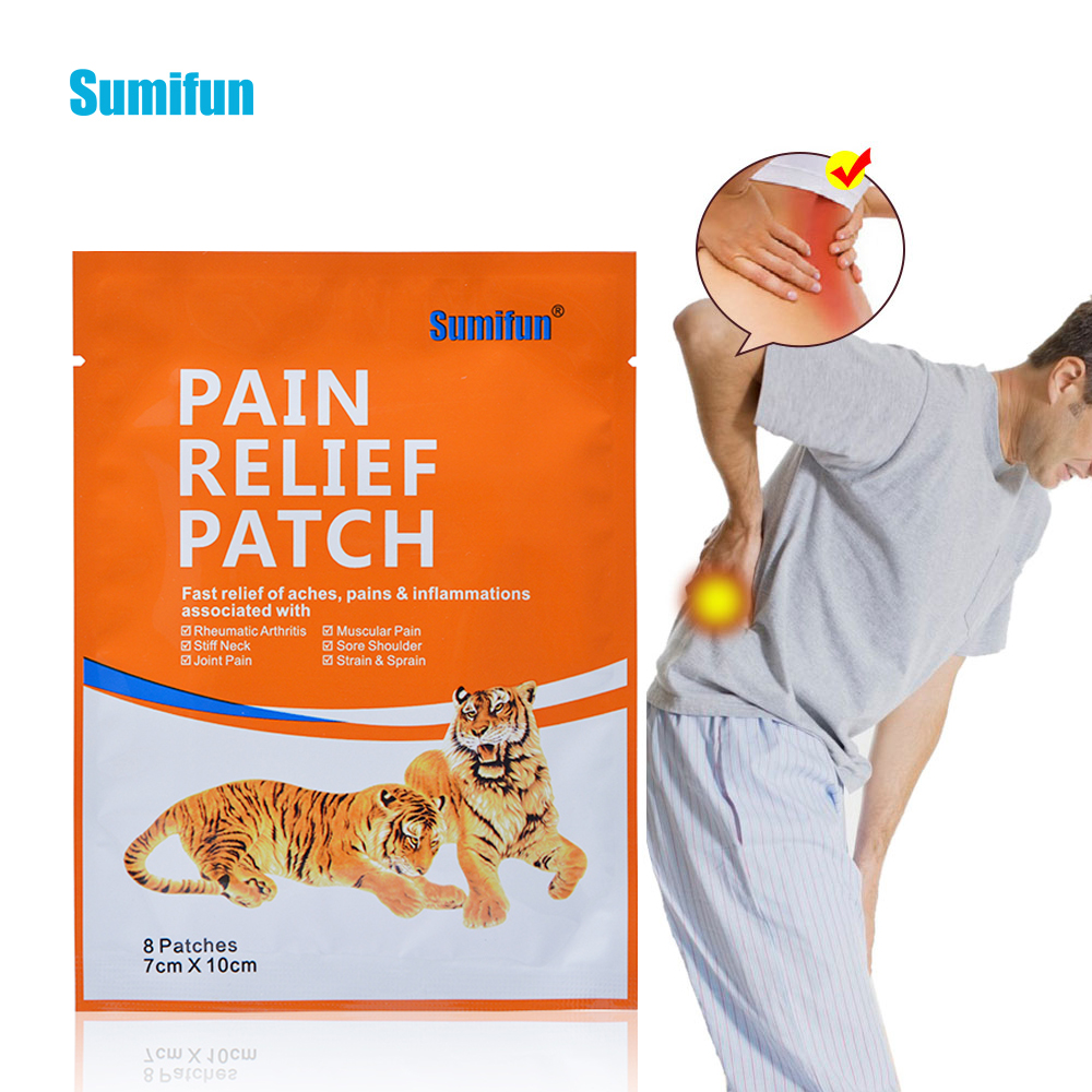 24pcs Tiger Blam Pain Relief Patch Muscular Aches Arthritis Joint Rheumatism Orthopedic Chinese Medical Plaster D0639