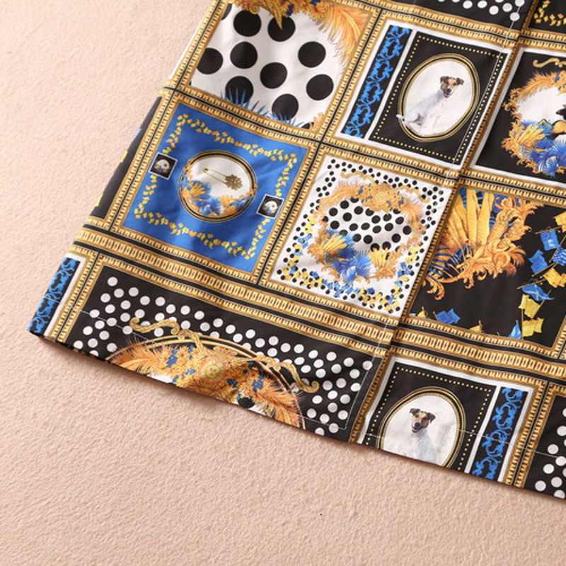 6xl Taille Chien Extra Hiver Poitrine Large Trench Casual 2018 Manteaux Automne Femme Imprimer Femmes Réglable Mignon Ceinture Unique Manteau wvqK5wx8Er