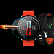 2 stücke xiaomi amazfit smartwatch premium explosionsgeschützte gehärtetem glas schutzfolie glas displayschutzfolie klassische schutzfolie