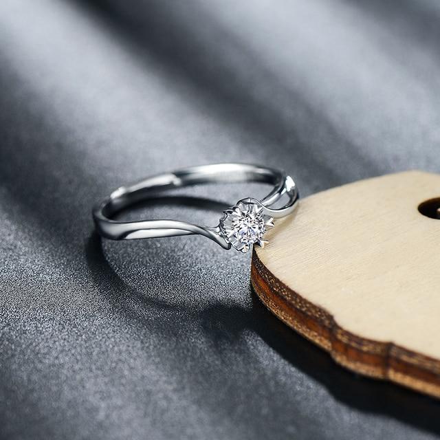 Натуральный GIA с бриллиантами обручальное кольцо для женщин 18 К белого золота 0.311ct GIA ювелирные изделия с бриллиантами обручальное пользовательские