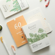 Green World 100 Days Project Planner Daily Agenda Travel Notebook Study Scheduler Journal Stationery Gift