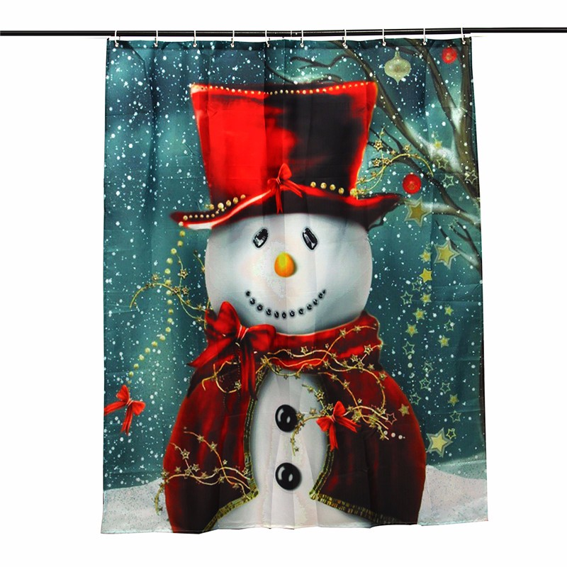 Smile Red Snowman Shower Curtain Merry Christmas Snowman Pattern Waterproof Bathroom  Curtain Christmas Bath Curtain. Compare Prices on Bathroom Curtain Patterns  Online Shopping Buy