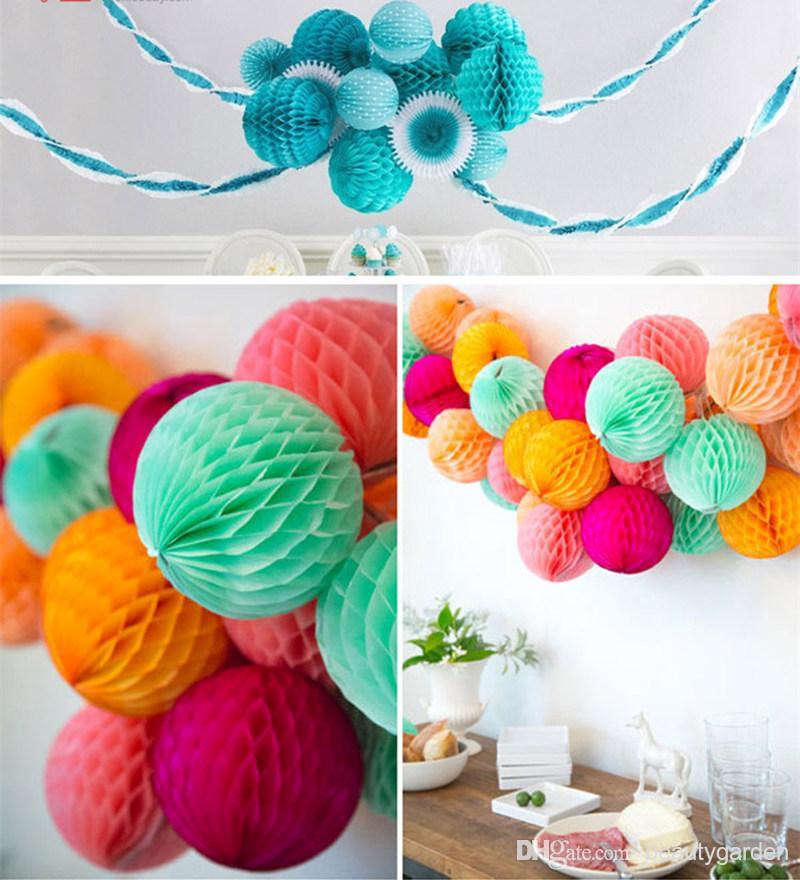 50 teile / los 30 cm Durchmesser DIY Papier Waben Blume Ball Hochzeit - Partyartikel und Dekoration - Foto 6