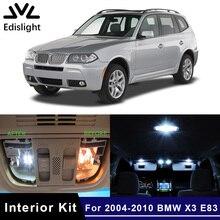 Edis светильник, 17 шт., Canbus, без ошибок, светодиодный светильник, автомобильные лампы, интерьерная посылка, комплект для 2004-2010 BMW X3 E83, карта, купол, багажник, дверная пластина, светильник