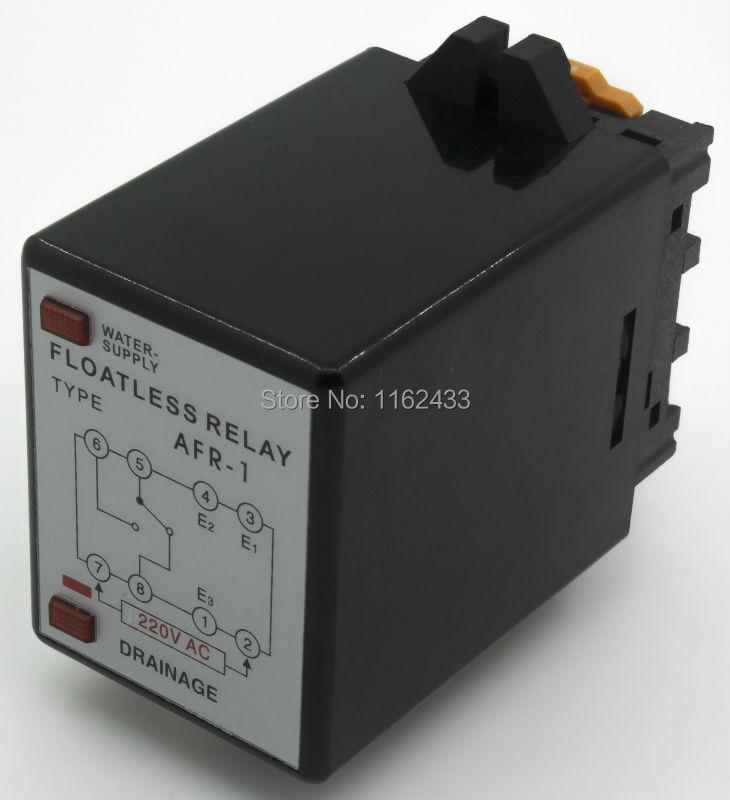 Relais/commutateur de niveau sans fil ca 220 V de AFR-1 avec base de prise 220VACRelais/commutateur de niveau sans fil ca 220 V de AFR-1 avec base de prise 220VAC