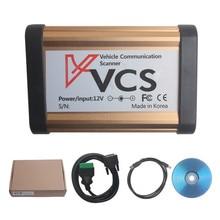 2017 New Arrivals VCS Interface de Comunicação Do Veículo Scanner VCS Interface do scanner Multi-Línguas Carros Cobertos de Ampla Gama