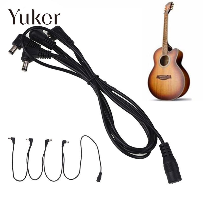 buy yuker yuker daisy chain 1 to 4 ways guitar effects pedal power supply cable. Black Bedroom Furniture Sets. Home Design Ideas