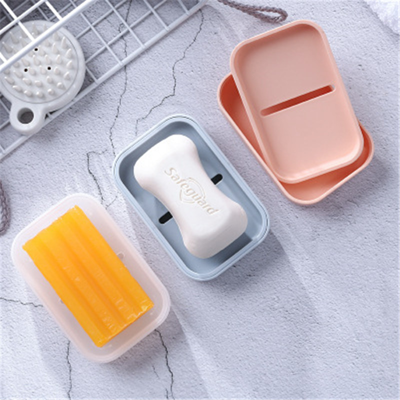 New Drain Soap Box Holder Double Layer Bathroom Soap Storage Rack Container For Bathroom Products Home Organizer