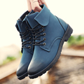 Men Boots Fashion Lace Up Round Toe Rubber Sole Boots Men Martin Boots Chelsea Boots Brand Shoes Men Zapatos Hombre