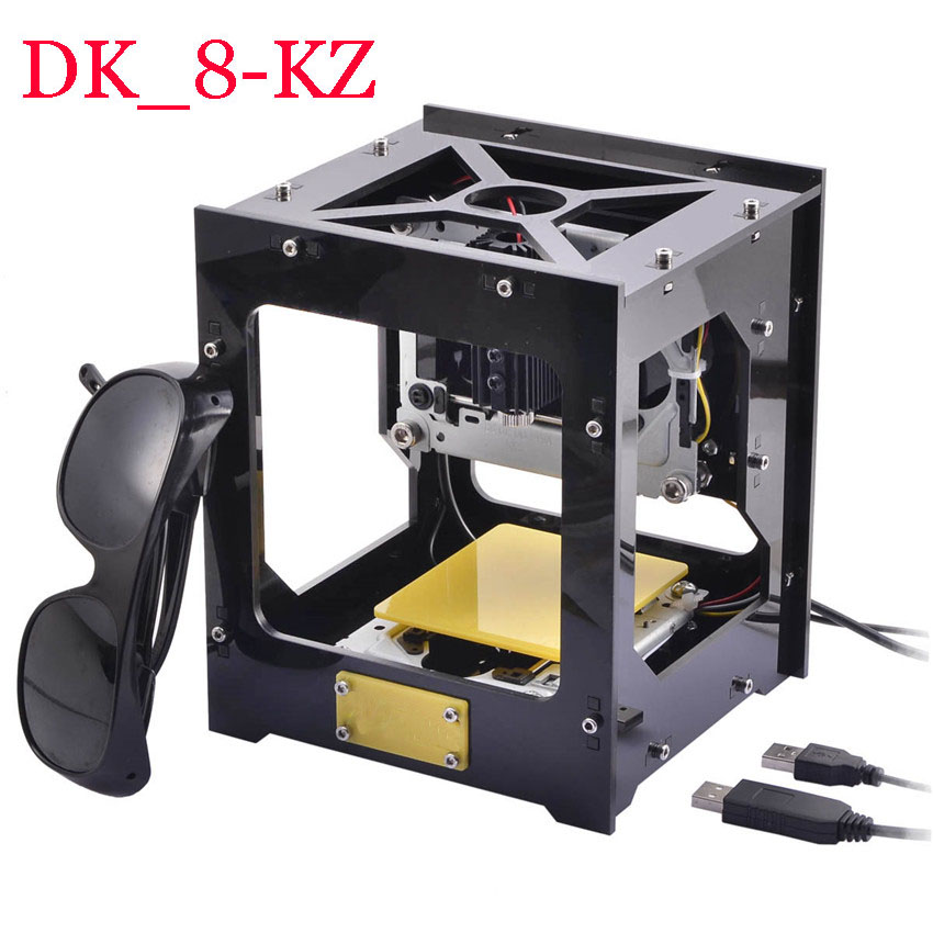 1PC 1000mW DIY USB Laser Engraver Printer Cutter Engraving Machine DK-8-KZ DIY Laser Carving Machine Protective Glasses jz 5 diy 500mw mini usb laser engraving machine stamp carving machine laser cutter for windows xp 7 8 10