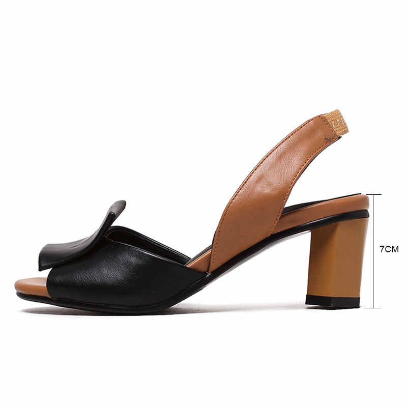 69dd3951f9bd ... Fanyuan 2019 Summer Shoes Woman Sandals Mixed colors ladies sandals  Stylish Back strap High heels Women ...