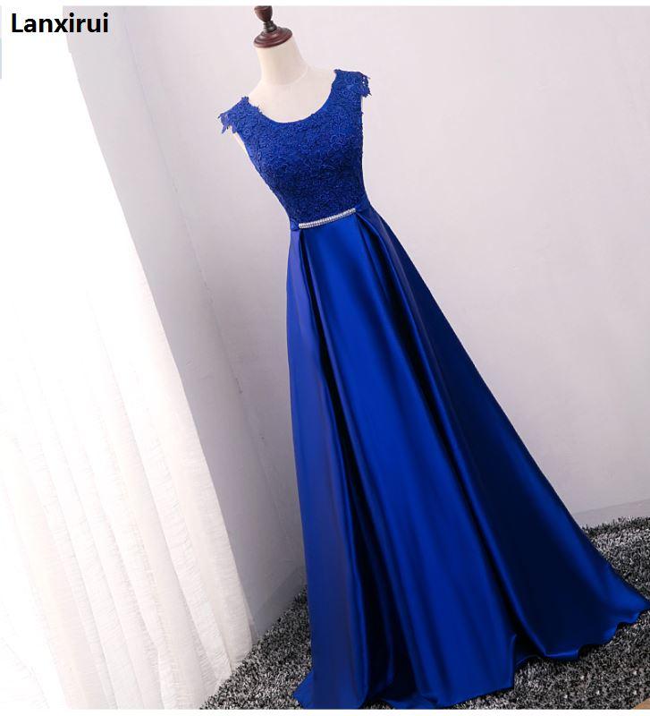 Nouveauté rouge bleu rose violet longueur de plancher dame fille femmes princesse demoiselle d'honneur Banquet fête robe de bal livraison rapide - 3