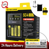 NITECORE SC4 Intelligent Faster Charging Superb Charger 4 Slots 6A Total Output Compatible IMR 18650 aa aaa Battery Charger