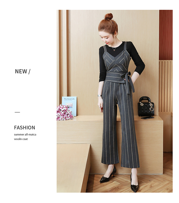 YICIYA Women outfits tracksuit sportswear Striped top and bib pants suits 2 piece set co-ord set OL Office 2019 bodycon clothing 15