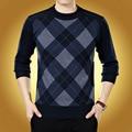 O novo 2016 espessamento suéter masculino Grade gola redonda moda camisola