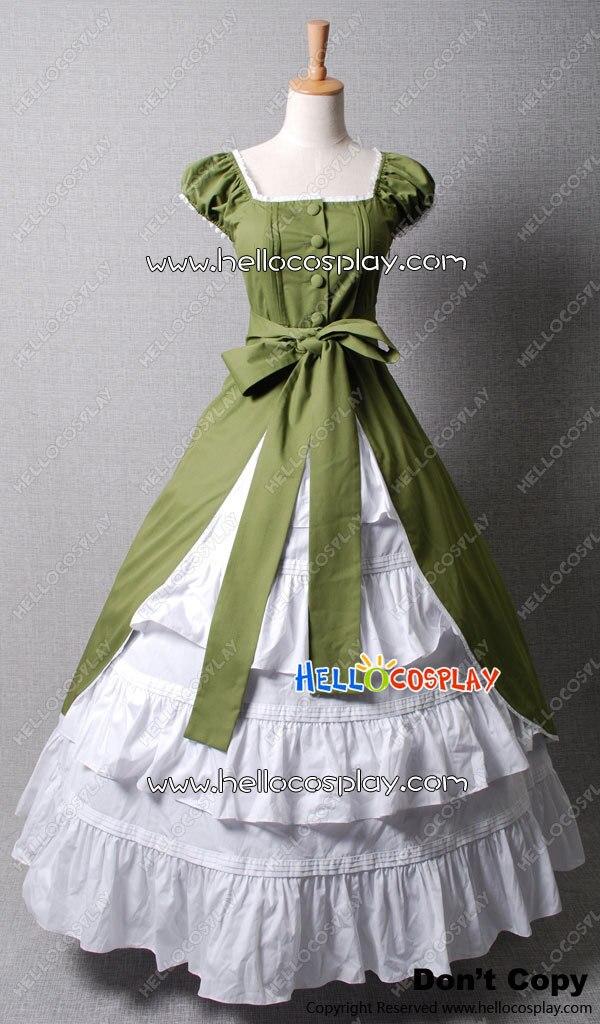 Nom du produit: Colonial Cosplay Lolita robe verte robe de bal Promess H008