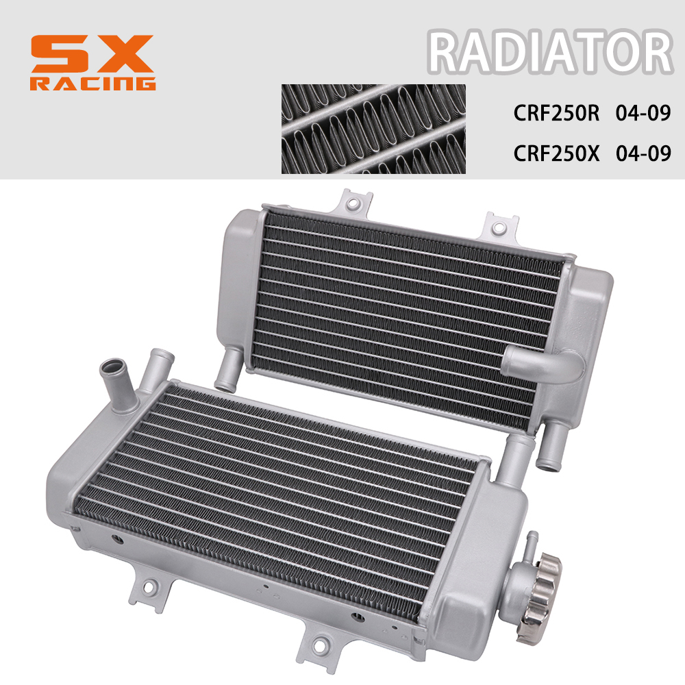 Radiator Cooler Cooling For Honda CRF250R CRF250X 2004-2009 Motorcycle