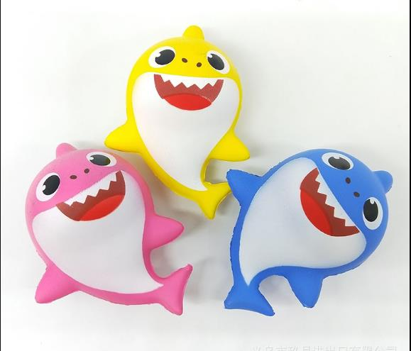 20pcs-kawaii Squishy Slow Rising  Rare Squishy  Colorful Shark 7.5*7.5*13.5cm  Kids Toy Wholesale   FREE SHIPPING.