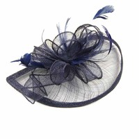 Elegant Women Bride Feather Mesh Fascinator Hairclip Hair Band Party Prom Wedding Accessory