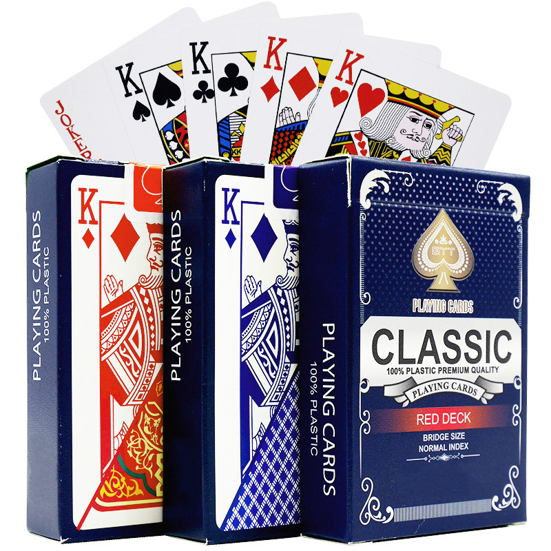 New 100% Plastic Playing Cards Waterproof PVC Poker Card Board Game Gambling Playing Cards Wearable And Washable 2.28*3.46 inch цена
