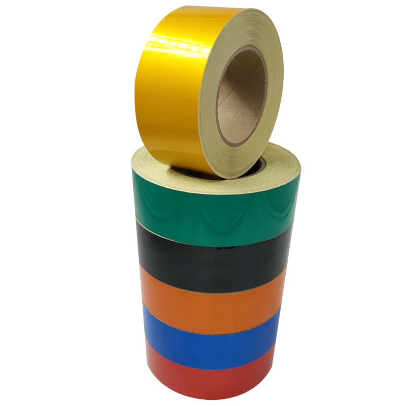 Reflective Strips 10 Rolls/Lot 5CM/45M Safety Warning Sign Tape Body Stickers Wholesale PET Materials Adhesive Wear-resistant