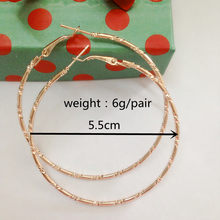 Simple Gold color Big Hoop Earring For Women Statement Fashion Jewelry Accessories Large Circle Round Earrings free shipping(China)