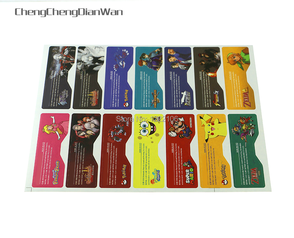ChengChengDianWan Custom Design Label Sticker for GBA SP Back Housing Console Back Tag 14pcs/lot=1set(China)