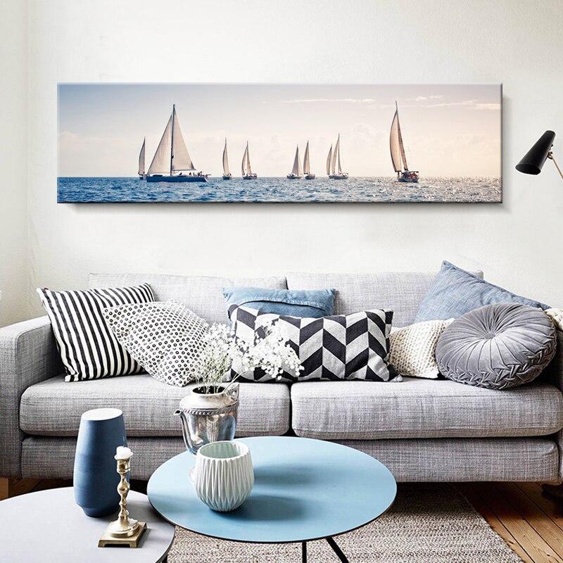 Картина на холсте Золотая парусная лодка настенная морская картина принт нордический постер с ландшафтом шикарная настенная декорация для кафе спальня магазин